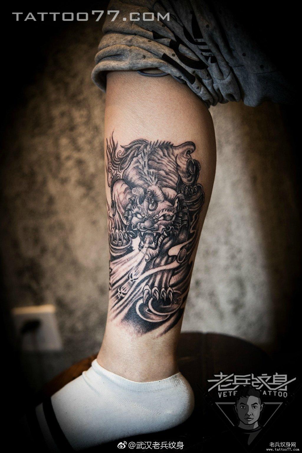 纹身          0 喜欢         浏览           腿部招财兽刺青