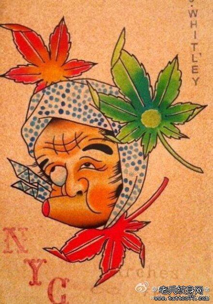 图案大全          0 喜欢         浏览           彩色日式脸谱纹身