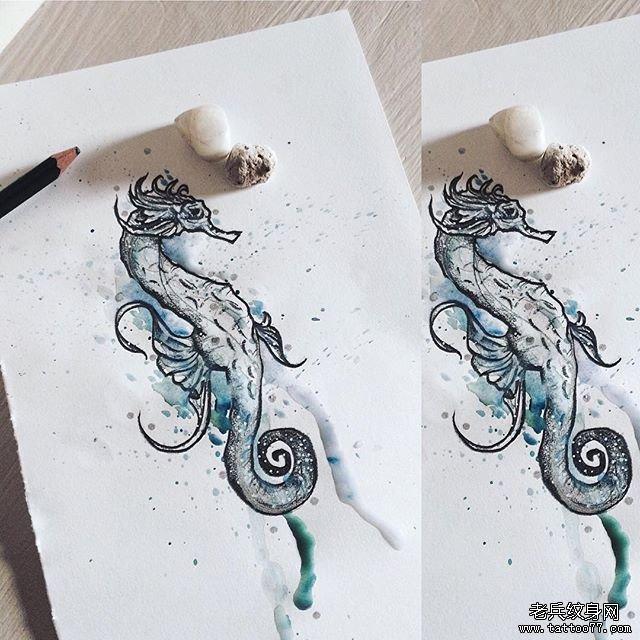 可爱水彩猫咪纹身图片         牡丹与猫头黑灰纹身图案 0 (0