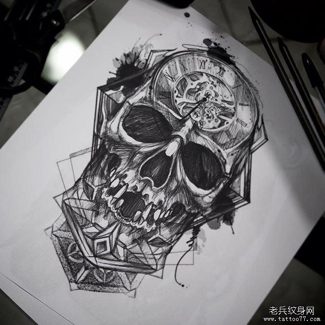 欧美机械骷髅·纹身图案