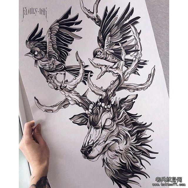 纹身主页 纹身图案大全 动物纹身图案大全  武汉纹身店       纹身