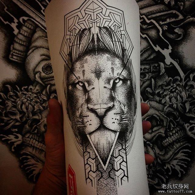 狮子动物纹身图案