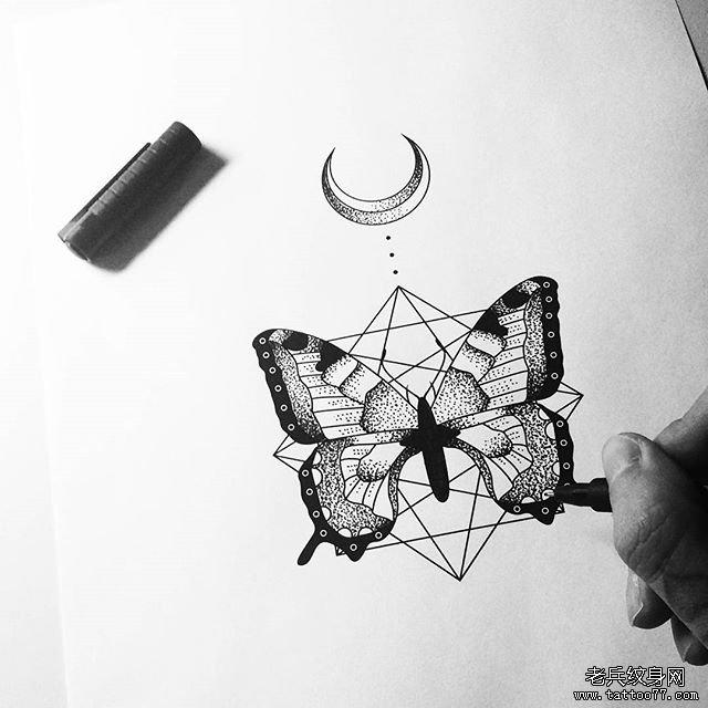 小清新点刺风景纹身图片
