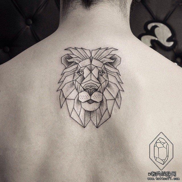 小清新蕾丝狮子纹身图案