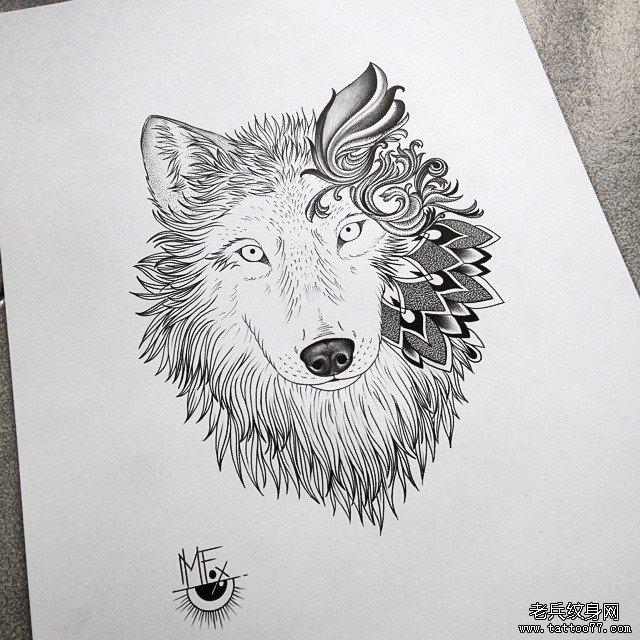 狼头的简笔画步骤