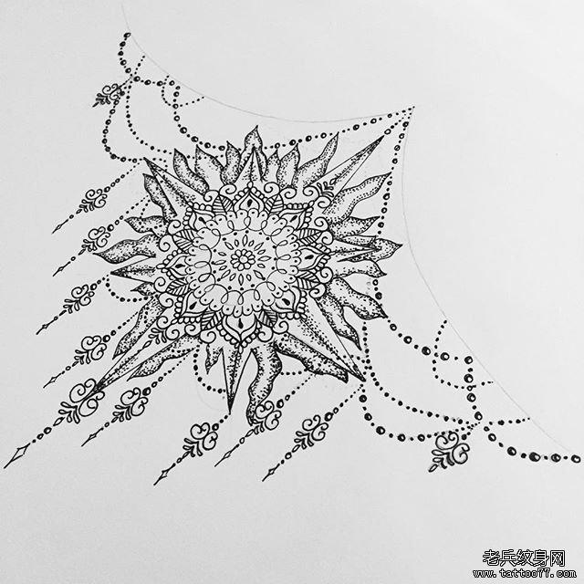 Drawing The Line Tattoos Tara Mccabe : 小清新蕾丝纹身图案