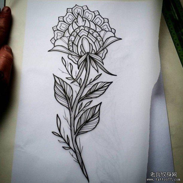 小清新花朵纹身图案