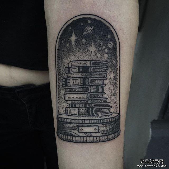 手臂点刺OFU纹身图案