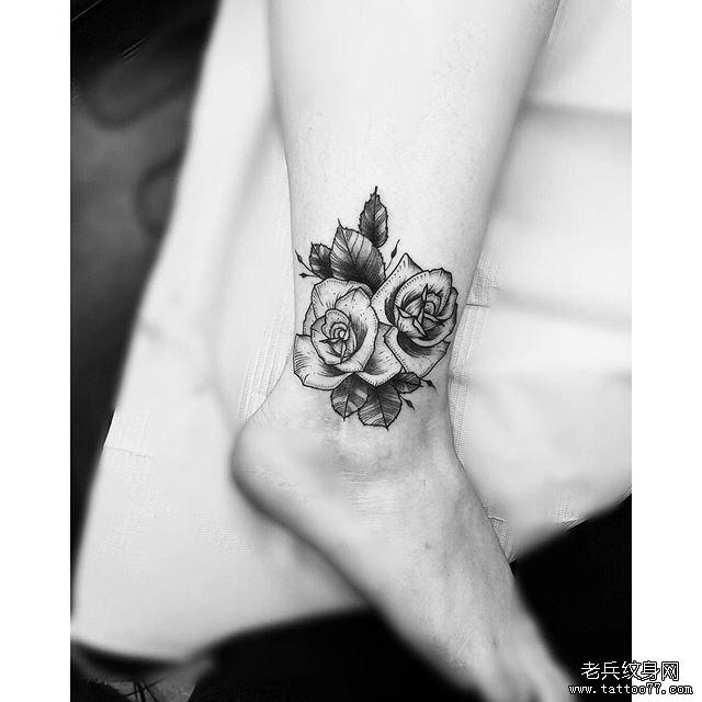小清新玫瑰纹身图案图片