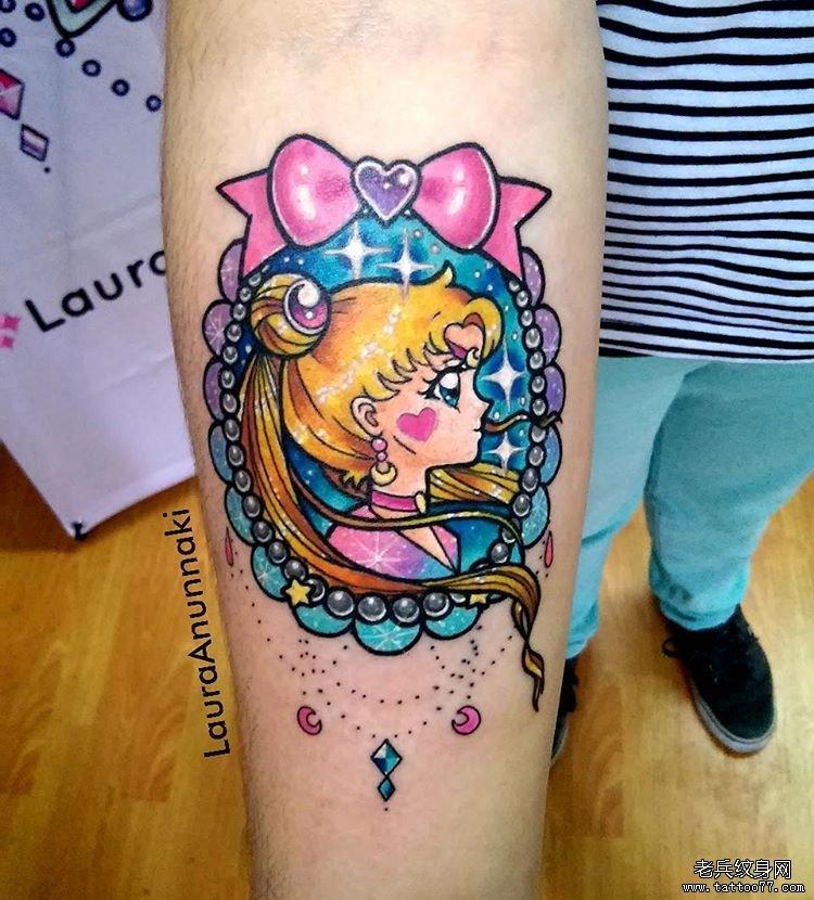 卡通彩色小孩纹身图案