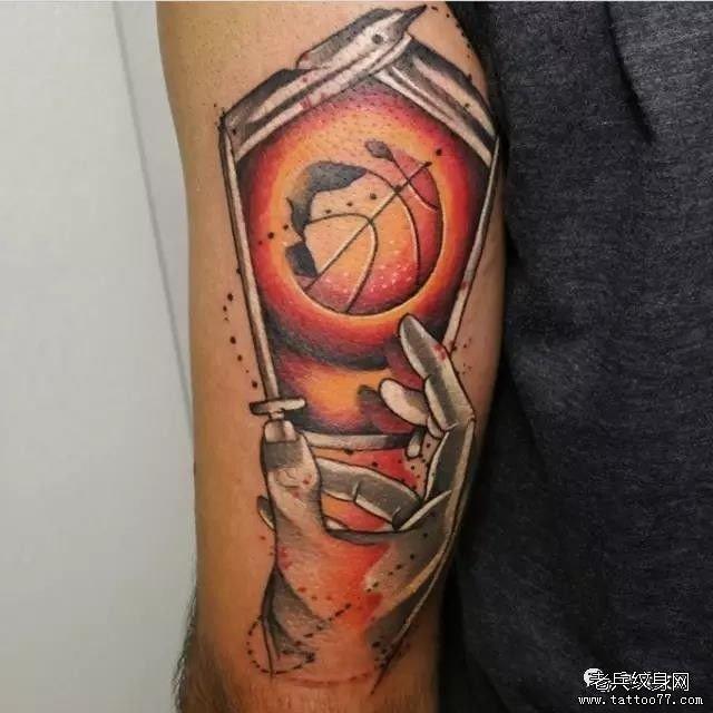 科比篮球写实纹身图案