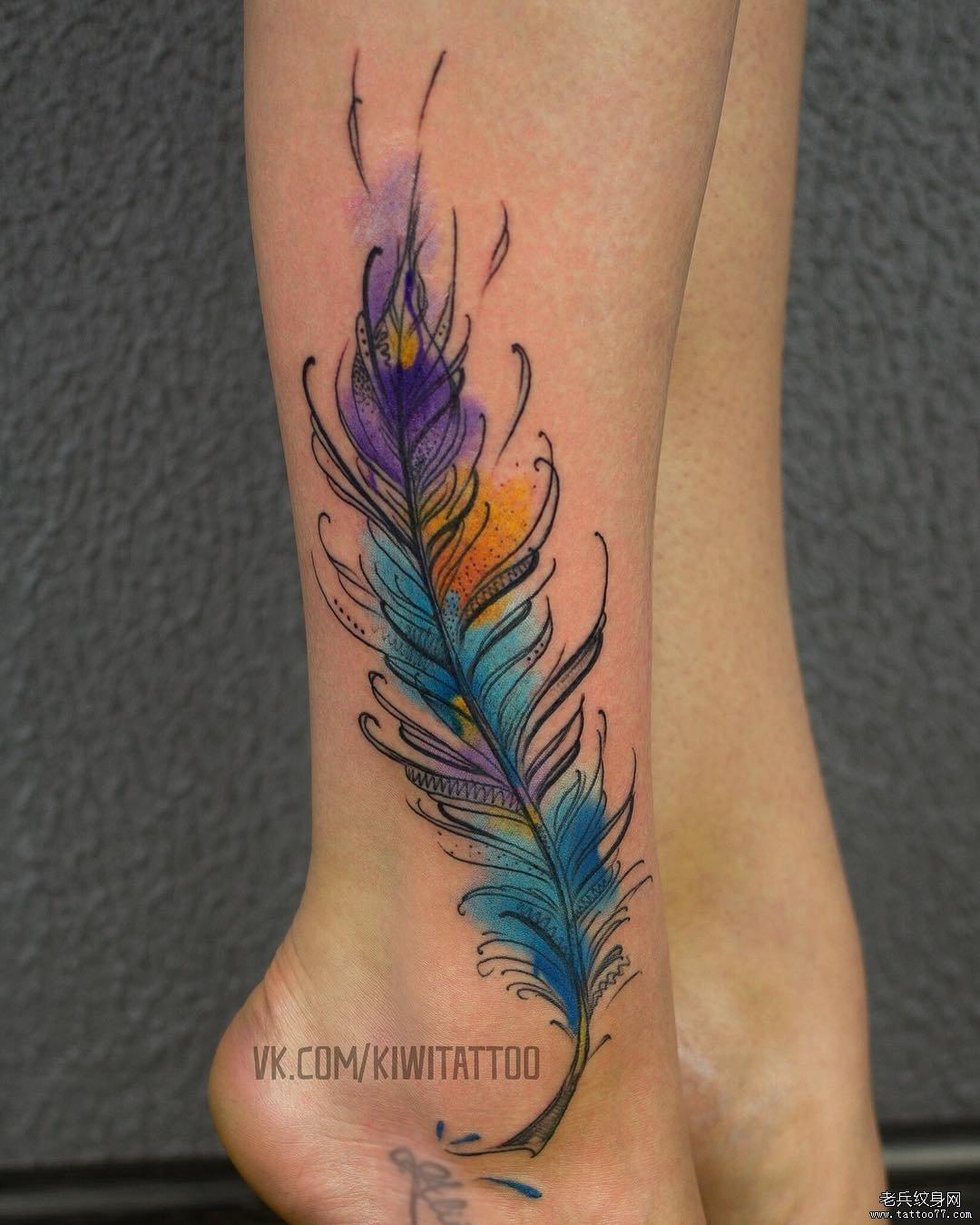 手腕简约线条闺蜜情侣纹身图案
