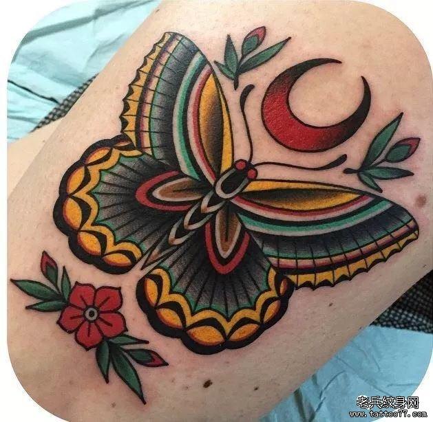 海星色彩手稿纹身图案