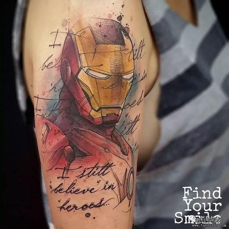 纹身素材第431期素材——钢铁侠