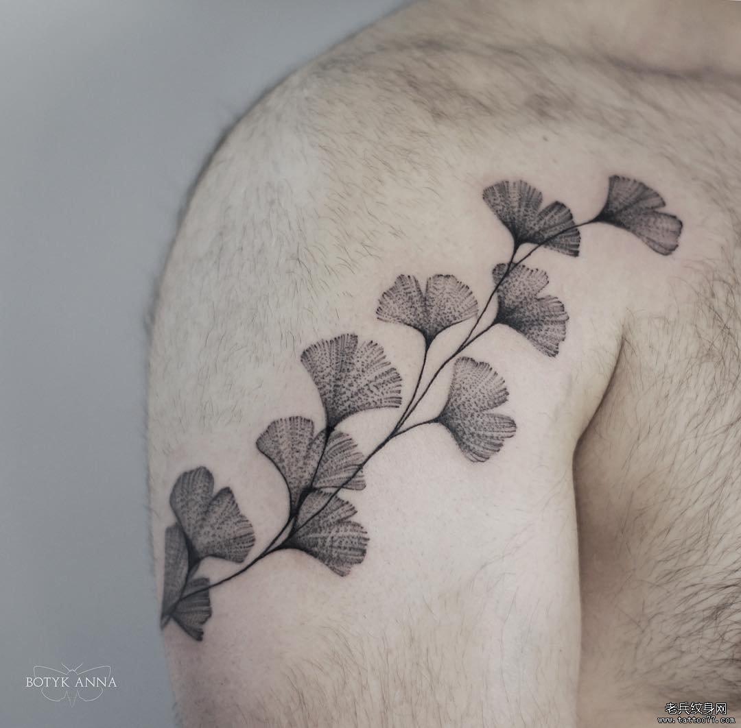 小清新泼墨纹身手稿分享展示