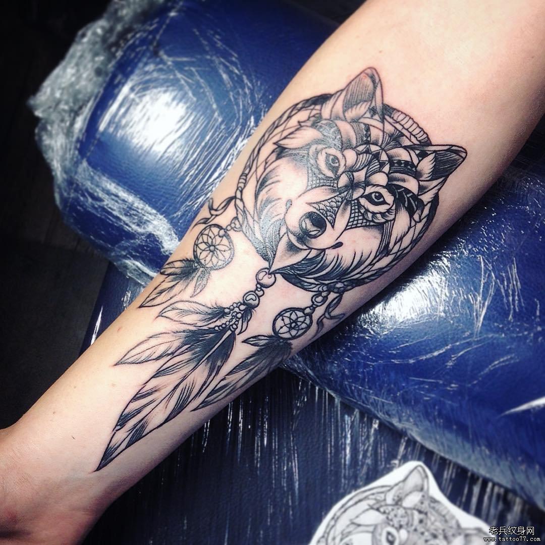 黑灰几何纹身手稿