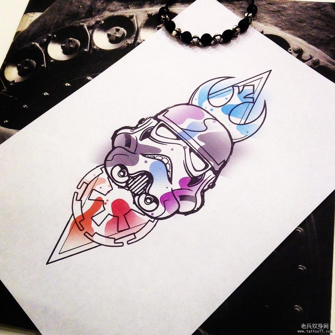 色彩手稿纹身