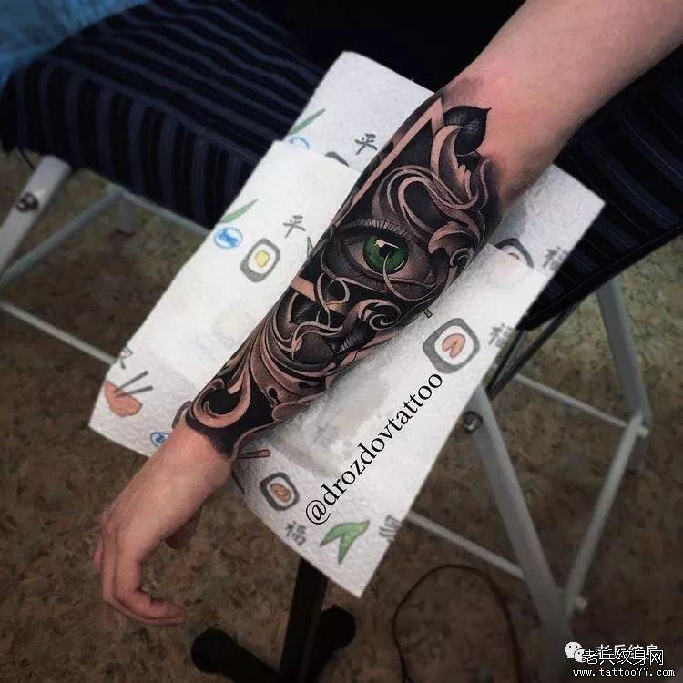 男生霸气包小臂纹身图案,速来围观~~!图片