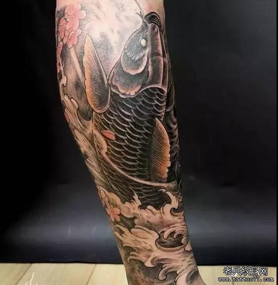 纹身素材第454期——锦鲤