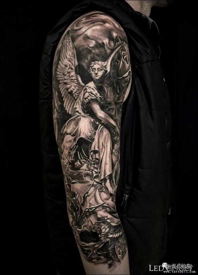 纹身素材第463期——欧美写实天使纹身