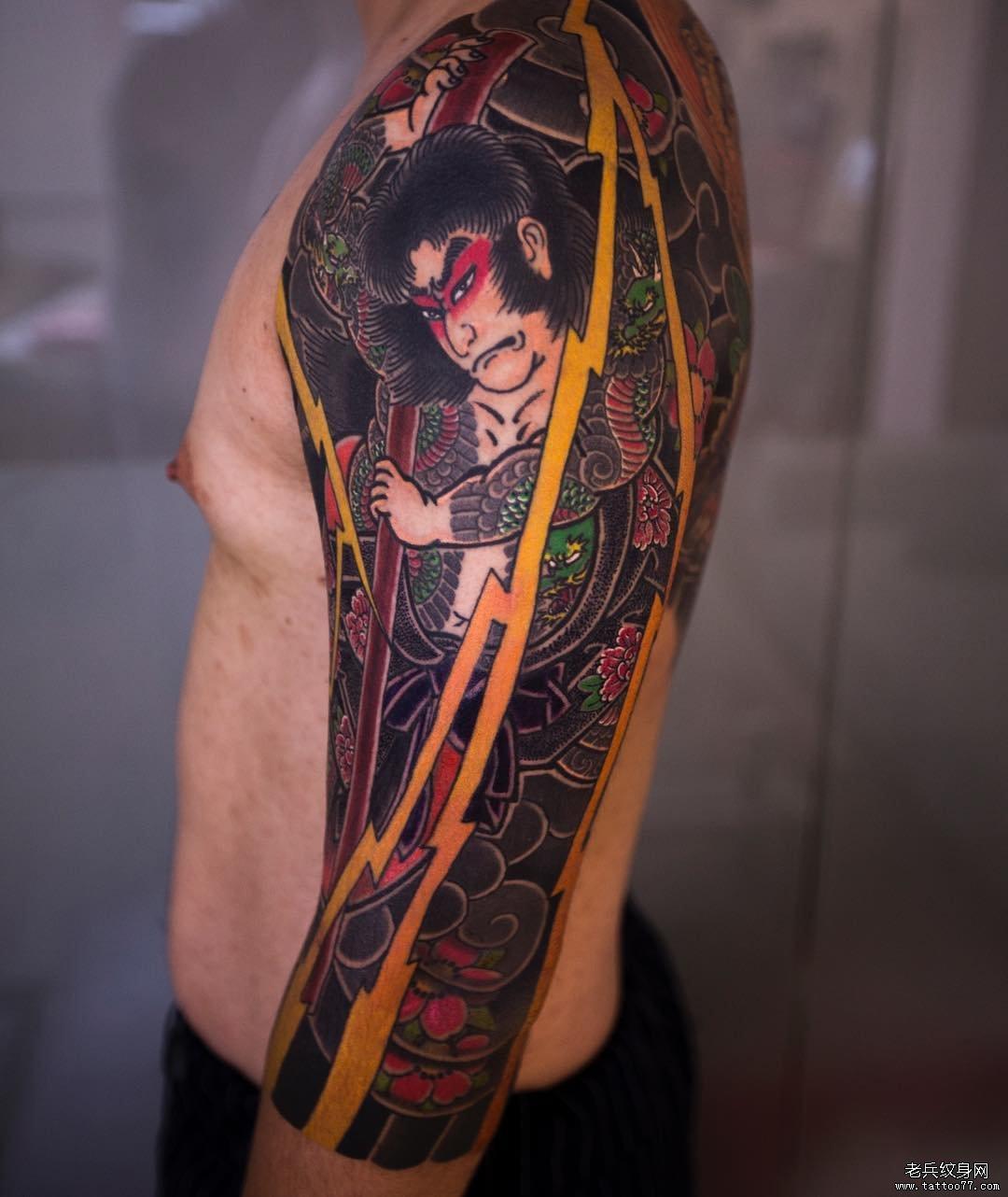日式传统人物纹身