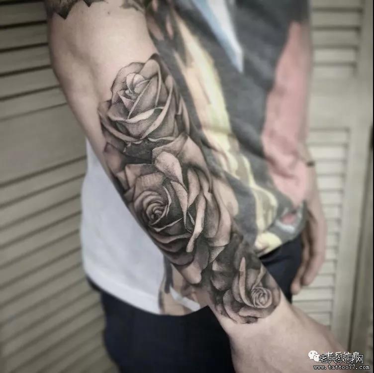 纹身素材第493期——男生包小臂