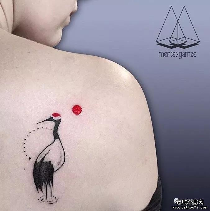 纹身素材第502期——仙鹤