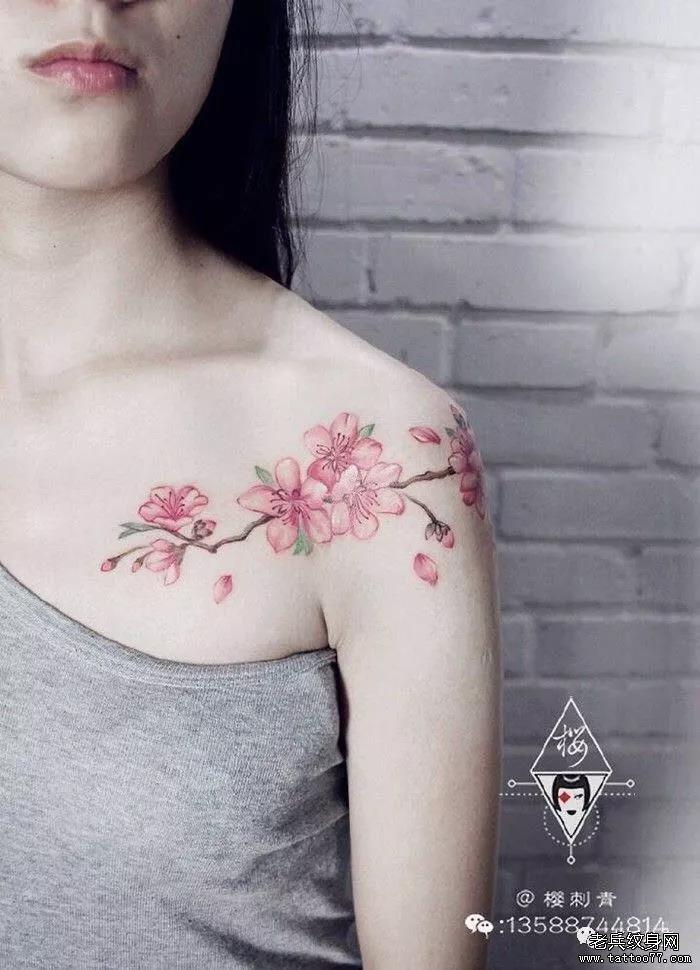 纹身素材第515期——桃花
