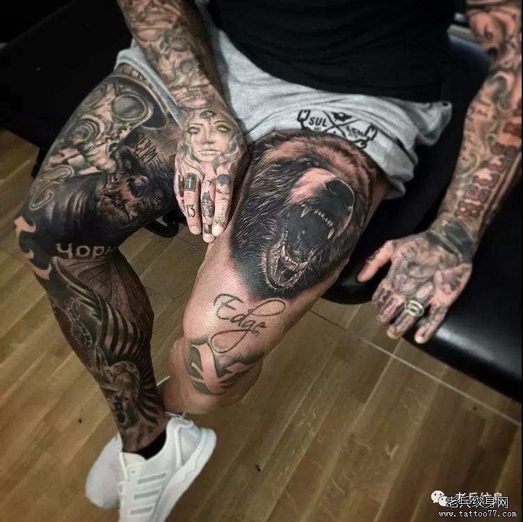 腿 武汉纹身店 武汉纹身店  0 喜欢   浏览  纹身素材第516期男生花腿
