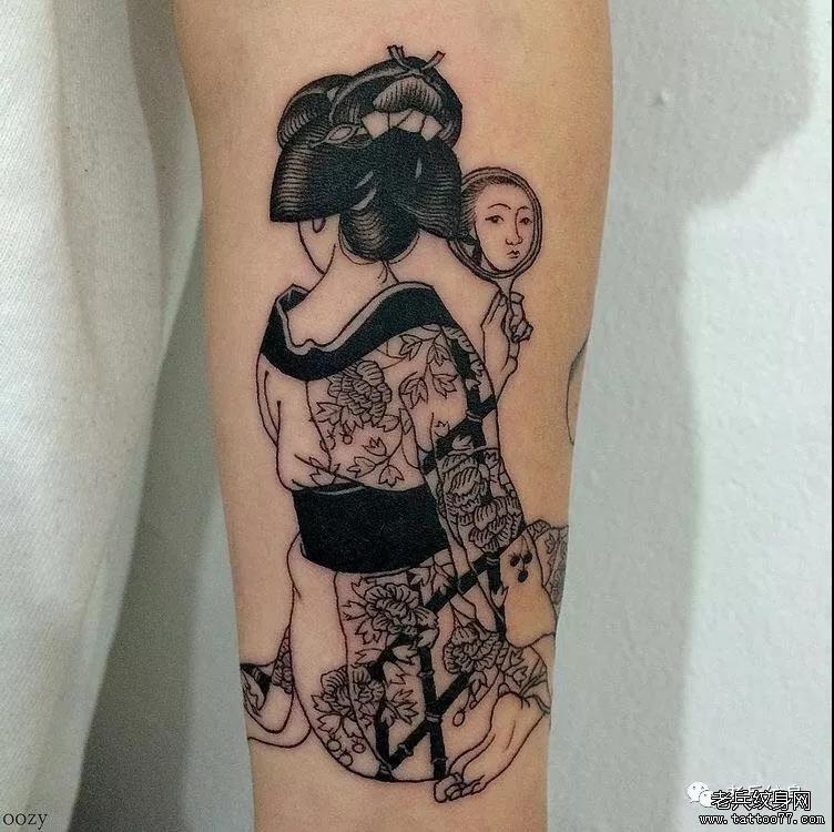 纹身素材第557期——艺妓