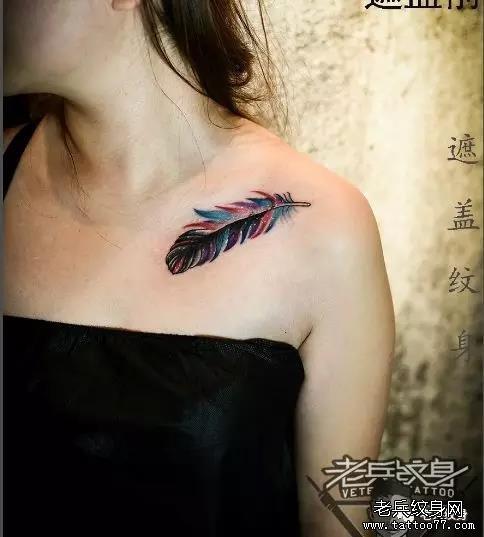 老兵店内纹身作品欣赏——男女锁骨部位纹身 武汉纹身店 纹身图案