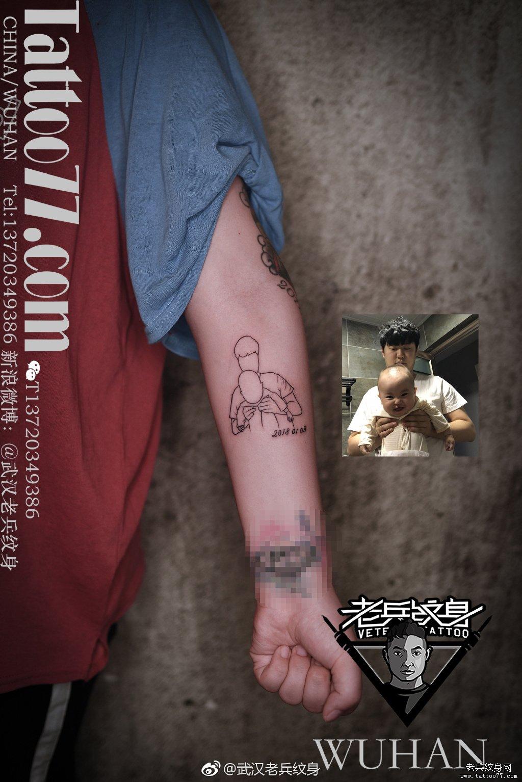 人物简笔画纹身图案