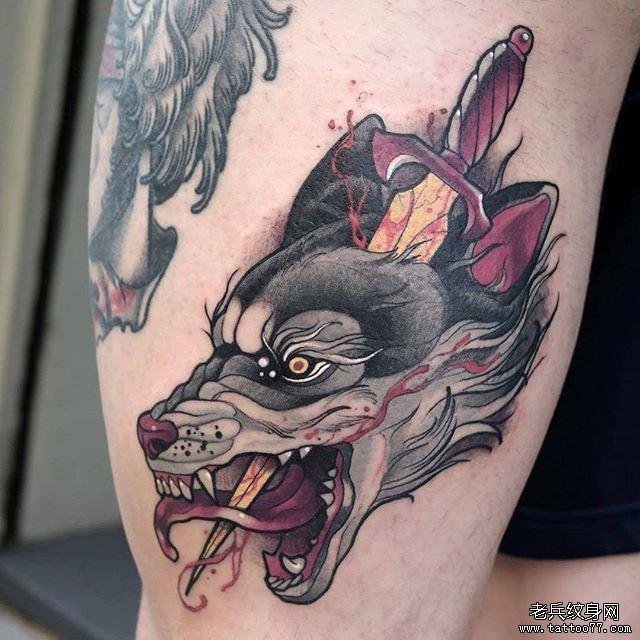 狼纹身图案大全_血狼纹身图案大全图片 _排行榜大全