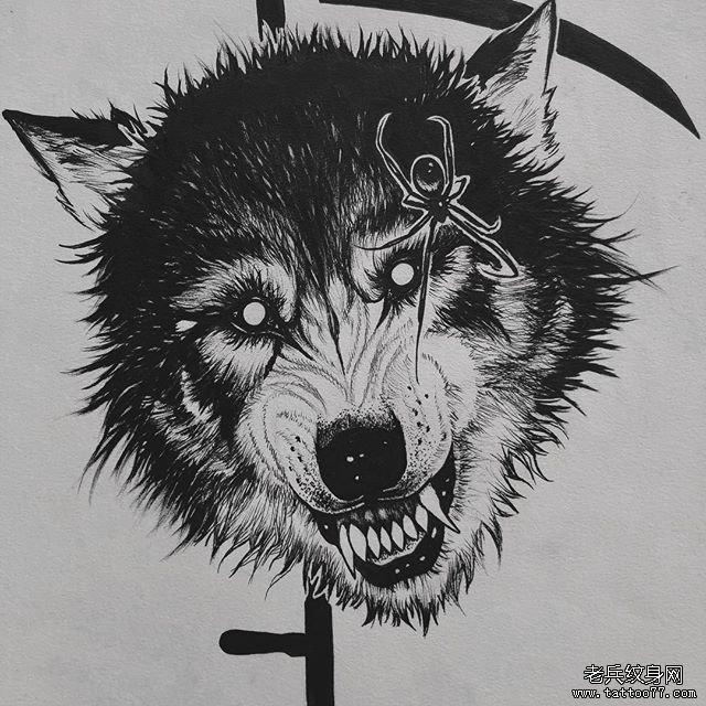 蜘蛛狼纹身图案