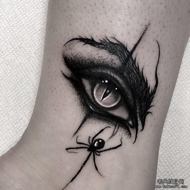 眼睛蜘蛛纹身图案