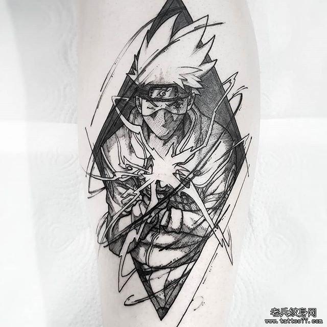 火影卡卡西纹身图案