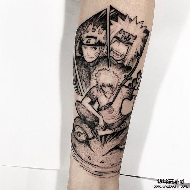 火影鸣人自来也蛤蟆纹身图案