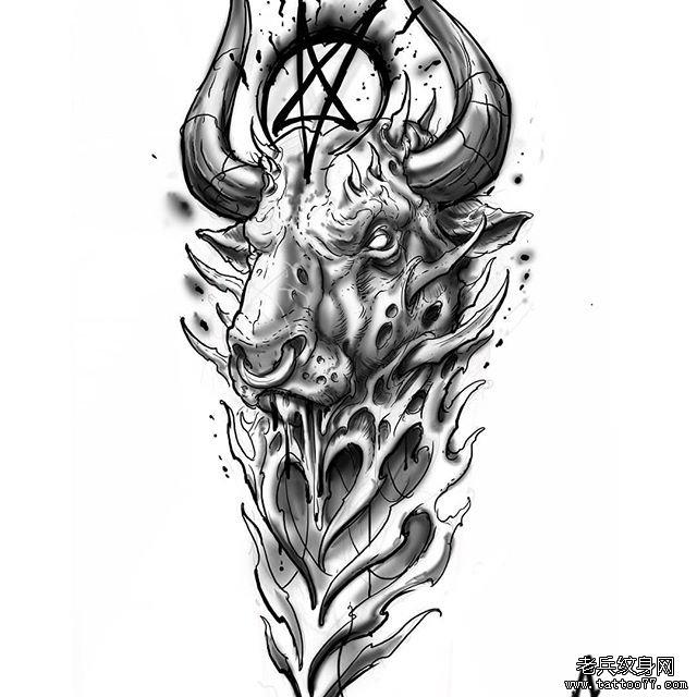 恶魔纹身图案手稿 图片合集