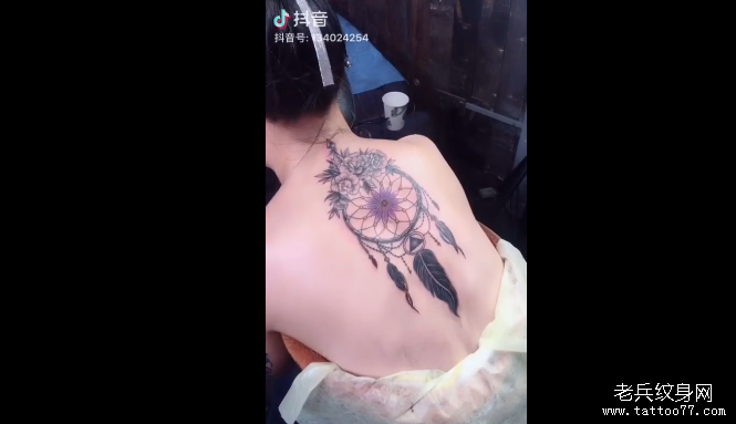 后背捕梦网纹身视频