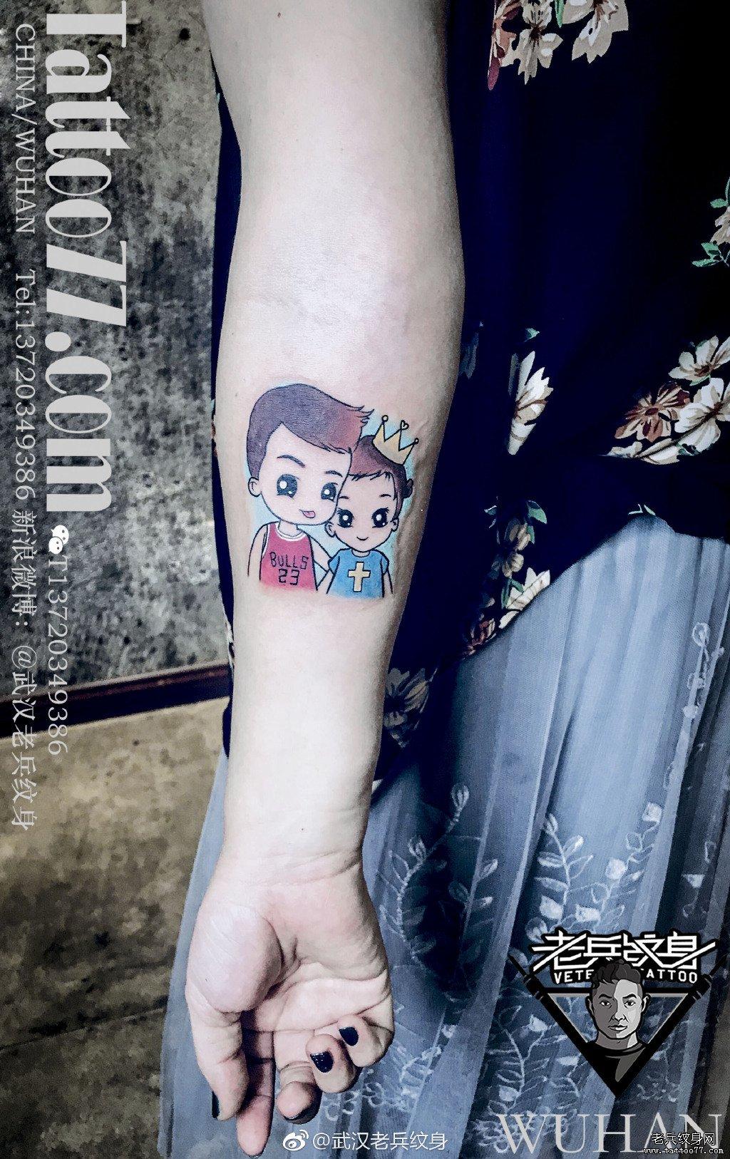 小臂简笔画纹身图案